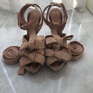 Christian Dior Ingenue Suede Bow T-STRAP Sandals